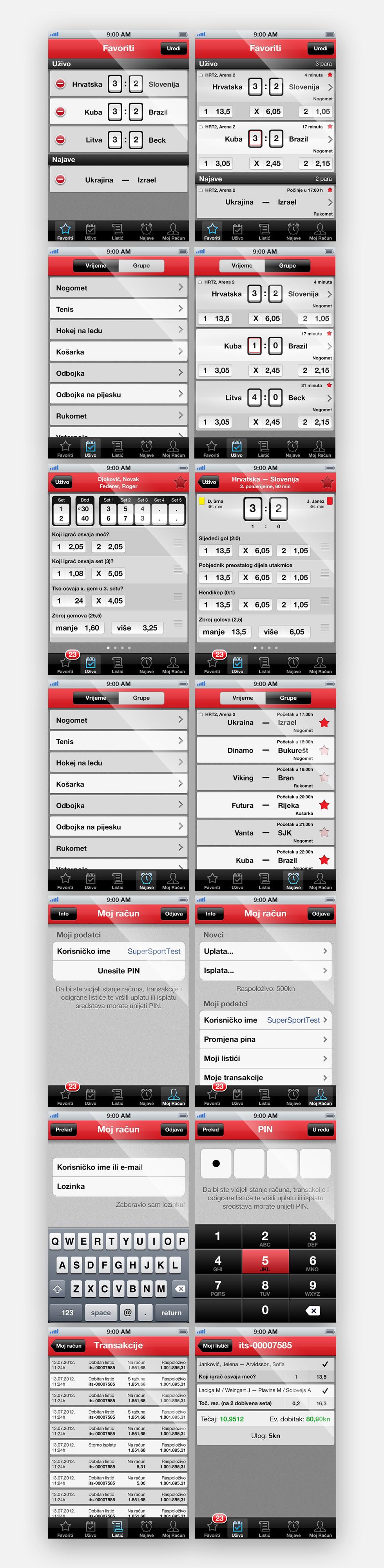 UI dizajn aplikacije